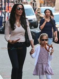 Padma Lakshmi Grabs A Bite With Her Little Lady : Growing ...