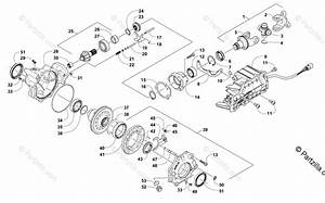 Arctic Cat Side By Side 2012 Oem Parts Diagram For Front Drive Gearcase Assembly