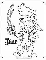 Jake Pirates Coloring Sheets Neverland Disney Pages Land Never sketch template