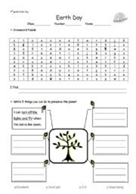 teaching worksheets earth day