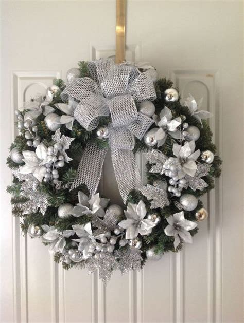 silver christmas decorating ideas   christmas