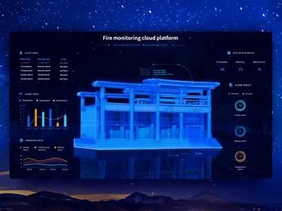 Platform Fire Monitoring Cloud Dribbble Modeling 3d