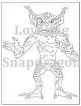 Gremlins Coloring Printable Drawing Pages Gizmo Spike Template Getdrawings Sheets sketch template