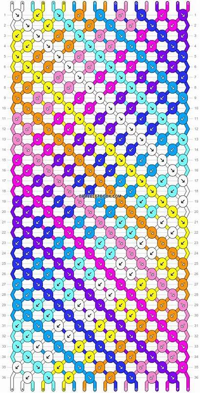 Bracelet Friendship Patterns Pattern Rainbow Bracelets Stripes