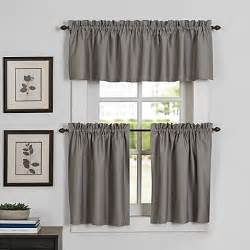 Kitchen Curtains Bed Bath And Beyond by Newport Kitchen Window Curtain Tier And Valance Bed Bath