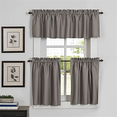 kitchen curtains bed bath and beyond newport kitchen window curtain tier and valance bed bath