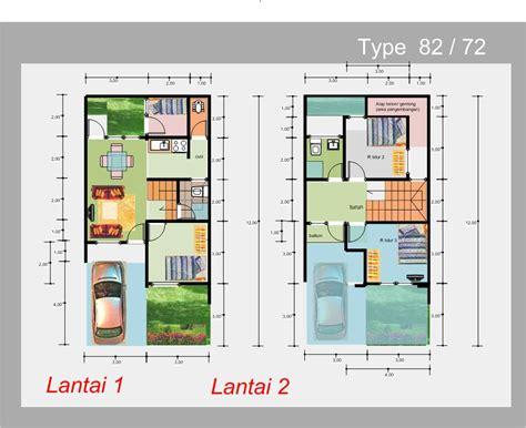 denah rumah modern minimalis    kamar tidur