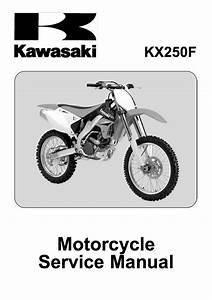 2006 Kawasaki Kx250f Service Repair Manual Genuine Honda