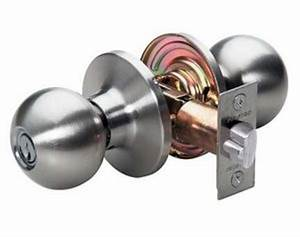 how to replace a doorknob With how to remove a bathroom door handle with lock