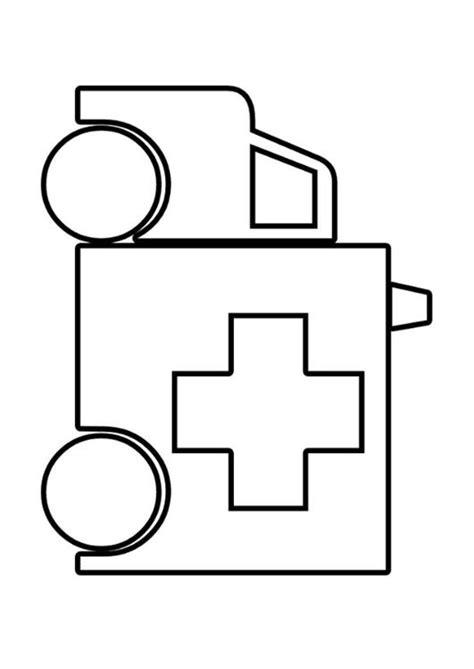 Kleurplaat Ziekenauto by Kleurplaat Ziekenwagen Afb 22569