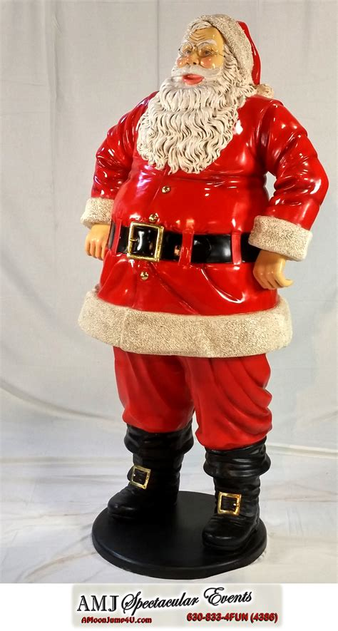 santa statue classic red velvet outfit santa statue