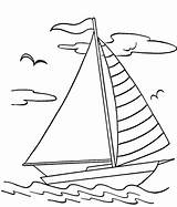 Boat Coloring Sail Pages Printable Coloringpagebook Simple Colouring Glass sketch template