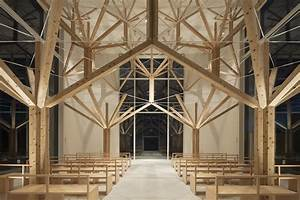 A national park inspired chapel composed of branching for Chapel by yu momeoda