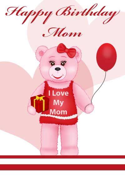 Happy Birthday Mom Cards Printable