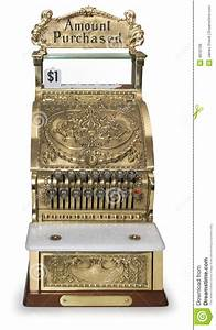 Vintage Cash Register Front View Royalty Free Stock Images ...
