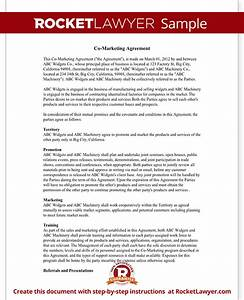 co marketing agreement joint marketing agreement template With co promotion agreement template