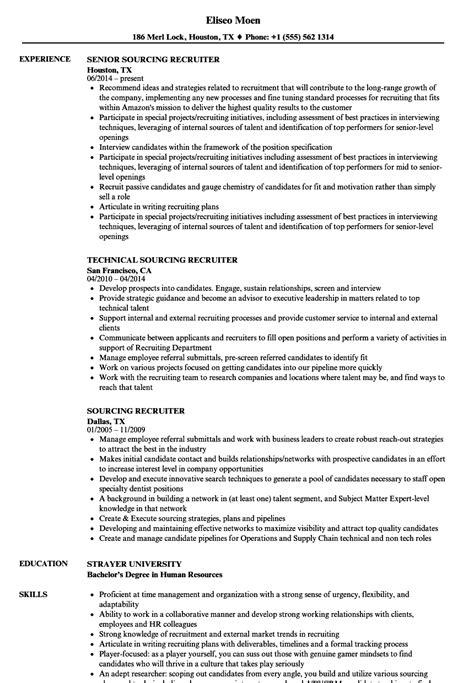 recruiter resume   year experience