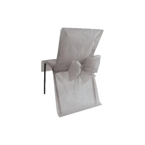 housse de chaise intisse housses de chaise grises intiss 233 avec noeuds les 10 baiskadreams