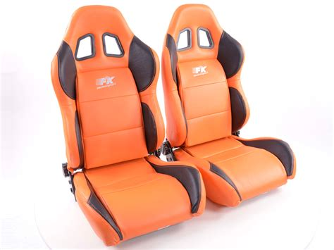 orange siege tuning shop siege baquet set houston 1xgauche 1xdroit