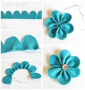 Crafts Felt Flower Pattern
