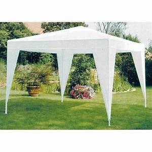 Teppich 2 X 3 M : tonnelle tente de jardin pe 3 x 3 m blanche achat vente tonnelle barnum tonnelle tente de ~ Bigdaddyawards.com Haus und Dekorationen