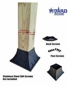 Schwebebalken Selber Bauen : quick mount 4 x 4 post support flange for permanent or temporary hand fence deck porch ~ Buech-reservation.com Haus und Dekorationen