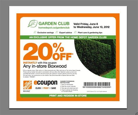 home depot canada garden center printable coupon for