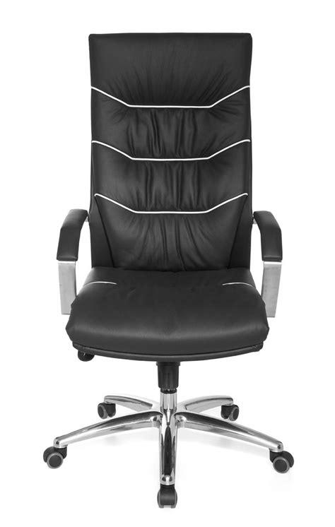 amstyle exécutif chaise de bureau ferrol cuir noir à