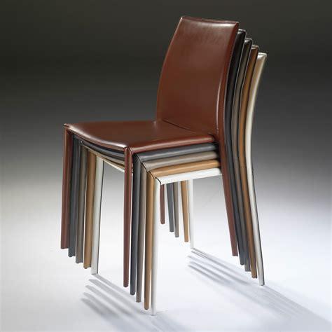 cuisine en longeur chaise en cuir recyclé longeur 46cm hauteur 92cm lot de 4