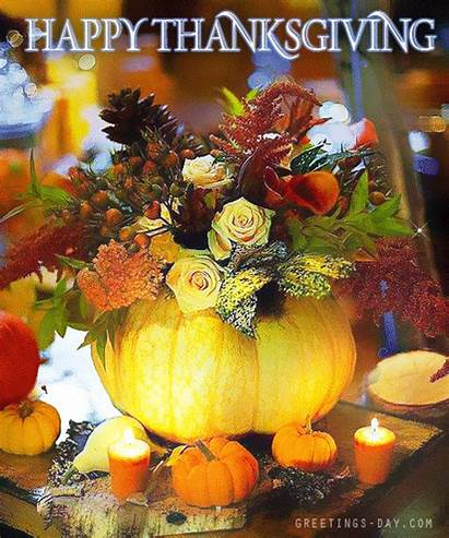 Thanksgiving Happy Greetings Animated Cards Greeting Pumpkin