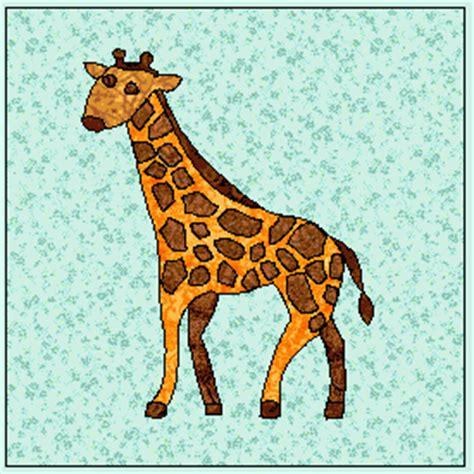 giraffe  applique   applique block pattern