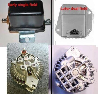 Mopar Squareback Alternator Wiring Diagram by Two Field Alternator Connections For B Bodies Only