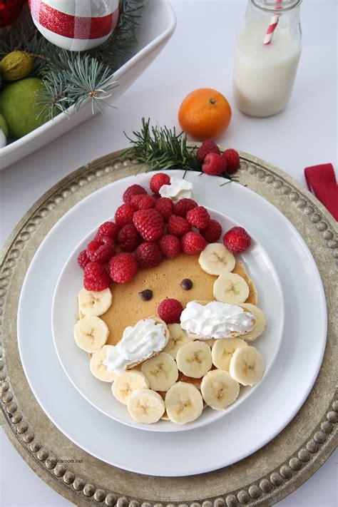 santa claus pancakes christmas breakfast recipe