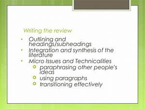 Apa Literature Review Headings And Subheadings