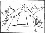 Coloring Pages Camping Tent Print Printable sketch template