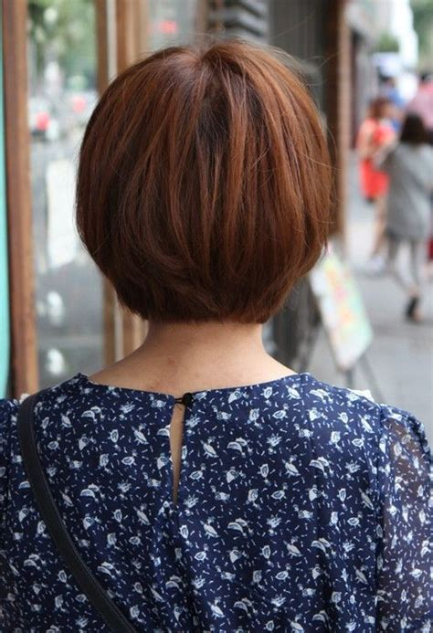 Front And Back Pictures Of Hairstyles by Back View Of Korean Bob Haircut K Pop Hairstyles