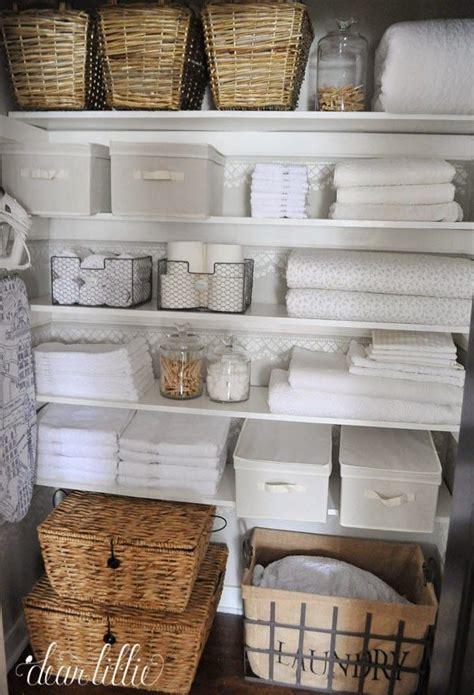 Linen Closet Baskets by Linen Closet Storage Options Wicker Baskets Canvas Bins