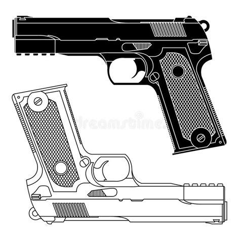 Una forma sencilla y rapida de hacer un dibujo de un arma en poco tiempo y de forma facil.musica : Technical Line Drawing Of 9mm Pistol Gun Stock Vector - Illustration of murder, protect: 20765583