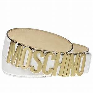 moschino couture belt lettering calf leather in gold With black moschino belt with gold letters