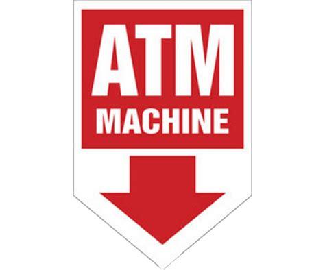 ATM Machine Coroplast Arrow Sign