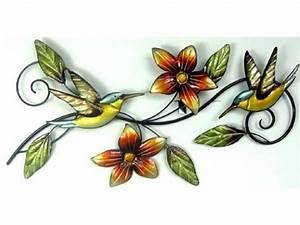 Decoration Murale Fleur : d coration murale m tal couleur colibri fleurs agen ~ Teatrodelosmanantiales.com Idées de Décoration