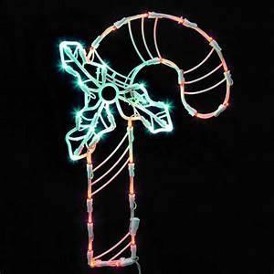 16, 75, u0026quot, , lighted, led, candy, cane, christmas, window, silhouette, decoration, -, walmart, com