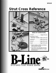 Cooper B Line Strut Systems Competitor Cross Reference
