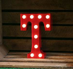 vintage carnival style marquee light light up letter t With letter t light