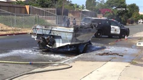 Fire Boat San Diego by Arson Crews Investigate Boat Fire Near Sdsu Times Of San