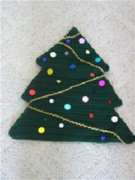 crochet patterns galore christmas tree placemat