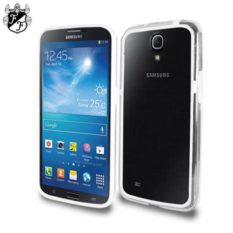 flexiframe samsung galaxy mega  bumper case clear white