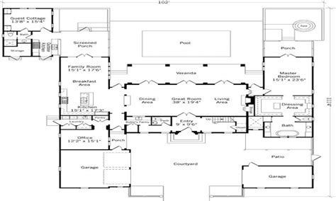 house plans with attached guest house house plans with guest house attached