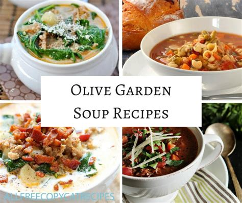 olive garden soup menu 11 olive garden soup recipes allfreecopycatrecipes