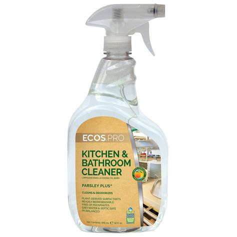 Mr Clean Bathroom Cleaner Msds by Earth Friendly Products Ecos Pro Parsley Plus 174 Kitchen